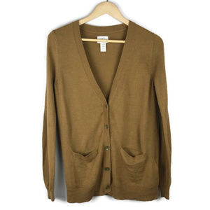 Levis   Womens Vneck Brown Cardigan Sweater Small